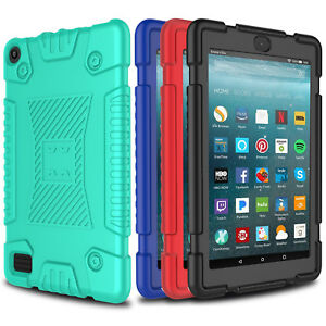 For Amazon All-New Fire HD 8 2018 Tablet Case Shockproof Rugged Silicone Cover