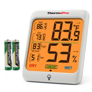 Digital Indoor Thermometer Hygrometer Back light Home Temperature Humidity Meter