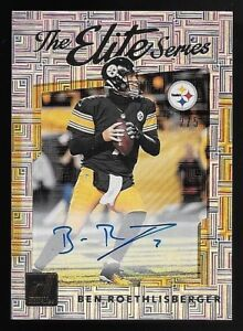 2017 Panini Donruss The Elite Series #25 Ben Roethlisberger Autograph Card #2 5