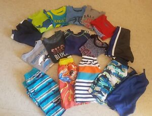 Lot 16 pcs dry fit size 3 T  years  boy's 10 t shirts  6 shorts used once