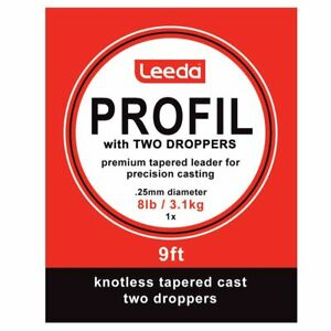 Trout Leader Profl Wet Fly Cast 2 Droppers Choice of sizes 9ft for Fly Fishing