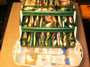 Vintage Flambeau Tackle Box Loaded w100+ Lures & Accessories - Great Variety!