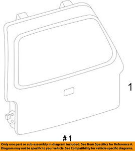 FORD OEM 15-17 Expedition-Liftgate Tailgate Hatch Panel Skin FL1Z7840010B