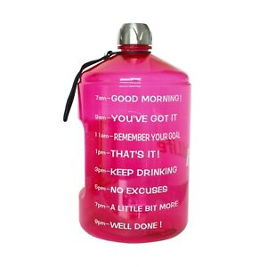 BuildLife 1 Gallon Water Bottle Motivational Fitness Workout with Time Marker...