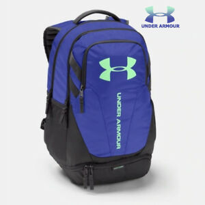 Under Armour Hustle Backpack 3.0 Bag Purple UA Storm New Bookbag School Charcoal