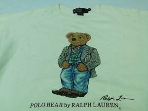 VTG POLO BEAR RALPH LAUREN FASHION SWEATSHIRT SHIRT P-wing Sport Stadium Size M