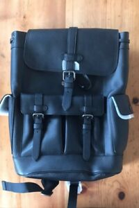 Coach Hudson Black Leather Backpack