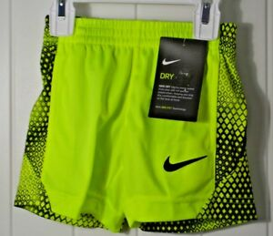 NWT BOY'S KIDS UNDER ARMOUR NEON YELLOW DRY DRI FIT ATHLETIC SHORTS SZ 2T 4 6