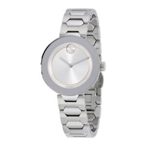 BRAND NEW Movado Bold 3600381 SUNRAY Silver Dial & BRACELET WOMENS SWISS Watch