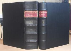 RARE 154849 Vol 1 & 2 Erasmus 'Paraphrase Of The Newe Testament' BibleTheology