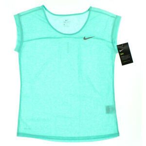 Nike Women's Dri Fit Cool Short Sleeve T-Shirt Hyper Turquoise Size Small