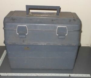 LARGE FISHING TACKLE BOX LOADED LURES WORMS ETC ETC ETC