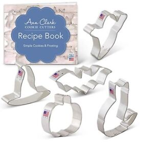 Halloween Trick or Treat Cookie Cutter Set with Recipe Book - 5 Piece