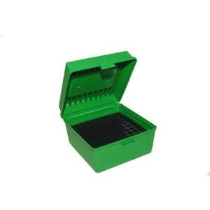 MTM R-100 Magnum Deluxe Ammo Box 100 Round Green  Green