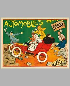 Automobile Barré period advertising poster