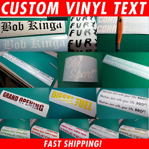 Custom Text Name Decal Window Sticker You pick Font Color amp; Size Fast Ship $11.45