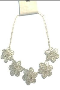 ANTHROPOLOGIE FALL FILIGREE BIB NECKLACE -- NEW WITH TAG