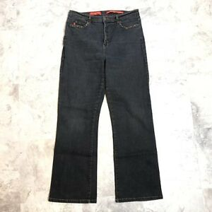 Not Your Daughters Jeans NYDJ Dark Wash Black Slight Boot Cut Jeans Size 6 C15
