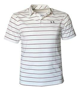 Under Armour Men's Performance Striped Shirt HeatGear Polo