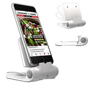 100% Genuine! Prepara iPrep Mini Adjustable Phone Stand Holder White! RRP $34.95