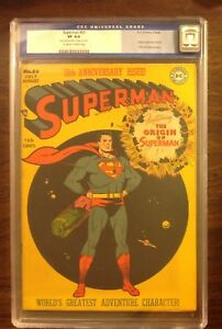 Superman #53 CGC 8.0 OW to White pages Old Label Origin retold