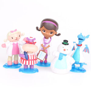 Doc Mcstuffins Check Up Time Dottie 5PCS Action Figure Cute Doll Cake Topper Toy