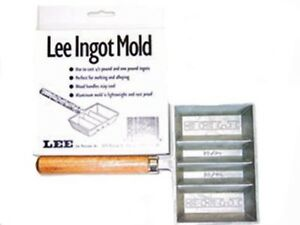 LEE PRECISION Ingot Mold With Handle 12 LB and 1 LB Made Of Rustproof Aluminum