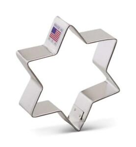 Ann Clark Star of David Cookie Cutter - 3.75 Inches - Tin Plated Steel