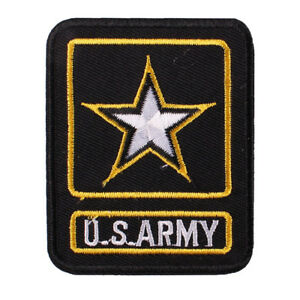 1pcs US ARMY Embroidery Iron ON Patch Badge Jean Coat Backpack Patch