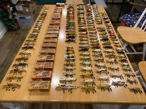 165 Vintage Bomber Fishing Lures. Various Sizes and Colors. Some Rare