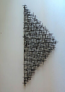 Huge Signed Corey Ellis Mid Century Modern abstract Wall Sculpture Eames C Jere