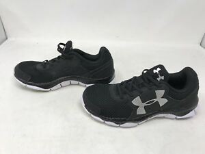 Boys Under Armour (1301860-001) Engage Black Shoes (419a)