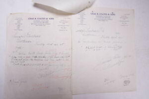 1934 Lamson Goodnow Chas R Coates Sons Baltimore MD Signed Ephemera P507L