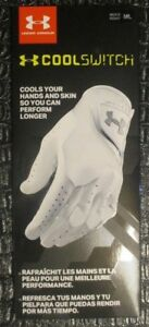 New Under Armour Men's CoolSwitch Golf Glove Right Hand White Medium Large NWT
