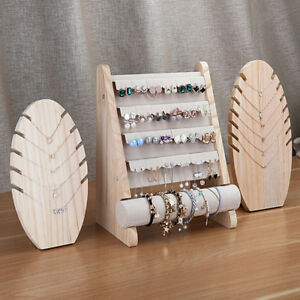 MagiDeal Wood Display Stand Organizer Holder for Necklace Bracelet Earring