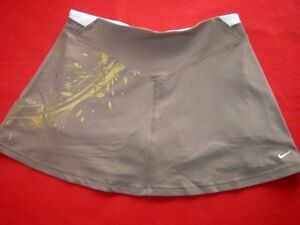 Nike New Womens Dry-Fit Brown Tennis Skirt & Incorporated Shorts sz XS 158cm C33