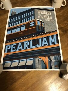 Pearl Jam Wrigley Field Chicago August 2018 Steve Thomas Train Poster Tour Merch