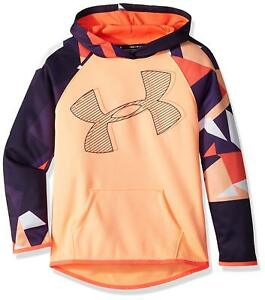 Under Armour Girls Armour Fleece Hoodie Printed Logo