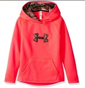 Under Armour Girls Icon Caliber Hoodie Youth Medium Pink Realtree NWT