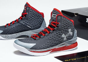Under Armour Curry 1 Underdog SC30 Steph 1258723-036 Grey Red Men's sz 13 Shoes