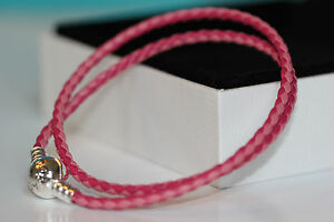 AUTHENTIC PANDORA MIXED PINK DOUBLE LEATHER BRACELET 590747CPMX* HINGED BOX*