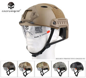 EMERSON FAST Helmet With Protective Goggle PJ ABS Tactical Military Helmet E8819