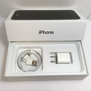IPHONE 7 Plus EMPTY RETAIL BOX AND NEW ACCESSORIES plug charger manual sim