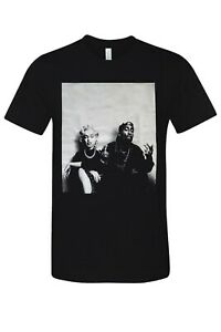 Marilyn amp; 2pac Vintage Casual Men#x27;s Tee Street Urban Graphic T Shirt New Black