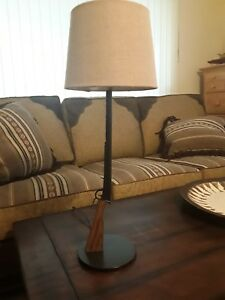 Hand crafted Winchester lever action replica western lamp hard wood and steel $129.00