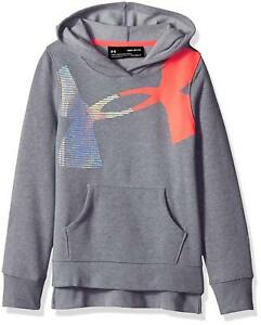 Under Armour Girls Rival Hoody Steel Light Heather