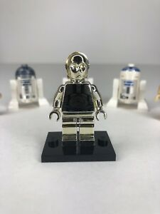LEGO STAR WARS CHROME GOLD C-3PO 1 OF 10000 LIMITED EDITION C3PO R2D2 Sw158 Nn