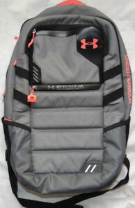 Girls Large Gray & Pink UNDER ARMOUR Storm Backpack Bag!