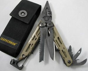 Leatherman Signal Multi-Tool Coyote Tan with Sheath – Dan Brown – Excellent!