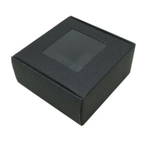 Multi-size Black Window Kraft Paper Box Wedding Party Candy Gift Packaging Boxes